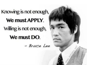 Bruce Lee Quotes about Practice