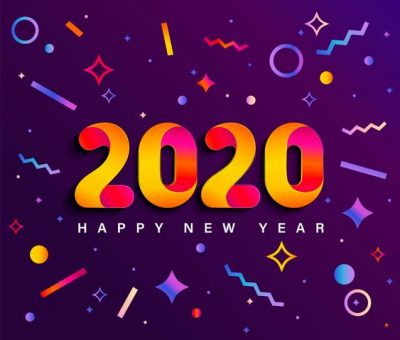 2020 New Year Background Image