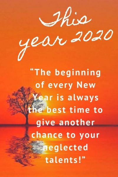 2020 New Year Motivational Saying