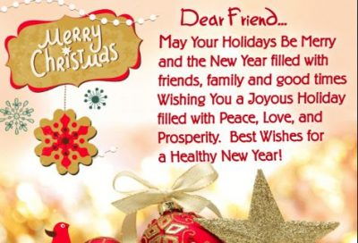 Christmas Holiday Wishes for Friends