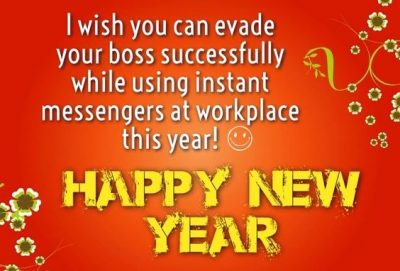 Funny New Year Quote On Boss