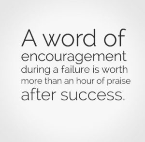 Most Encouraging Words for Failure