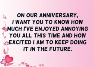 Funny Anniversary Quotes Message