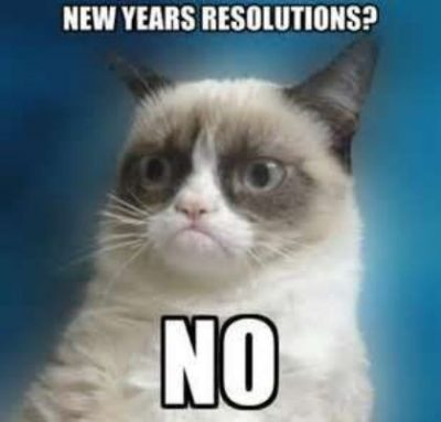Grumpy Cat New Year's Resolution Meme