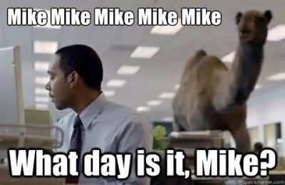 Hump day meme mike