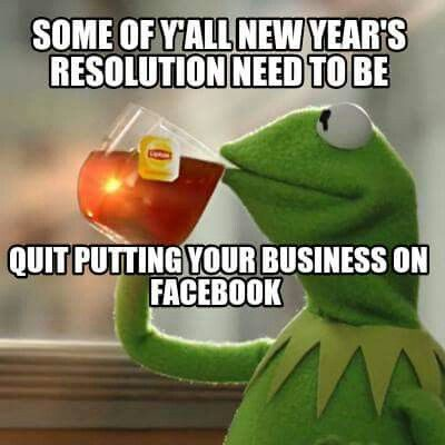 Popular New Year's Resolution Meme