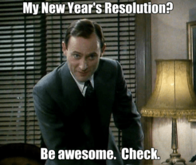 Scarily New Year's Resolution Meme