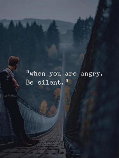 Be Silent When Angry Quotes