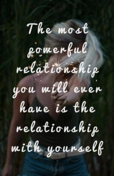 Be In Relationship With Yourself
