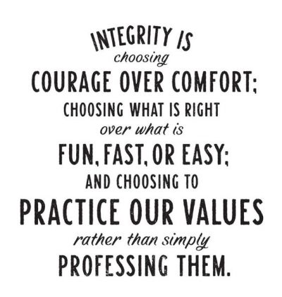 Integrity Quotations For Work