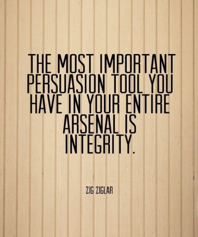 Integrity Quote For Work