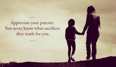 Sacrifices Of Parents