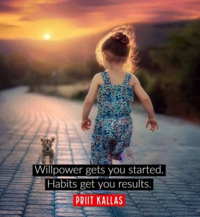 Willpower Should Be Started