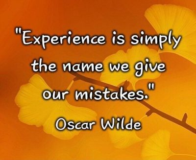Famous Quotes On Mistakes And Experience