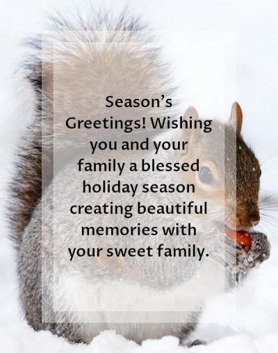 Holiday Greetings Quotes For Family