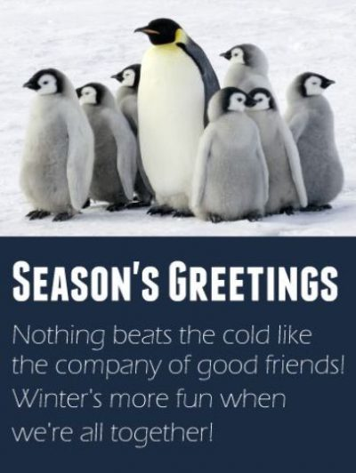 Holiday Winter Greeting For Friends