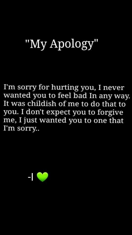I Am Sorry Messages, Texts For