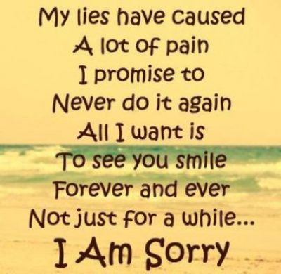 I Am Sorry Text For Her