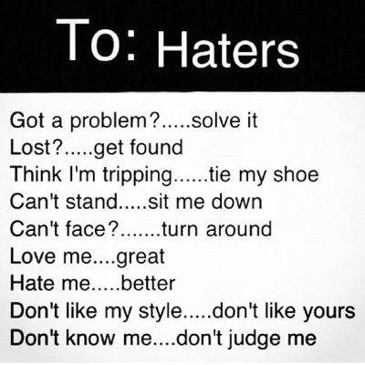 Haters Message Instagram