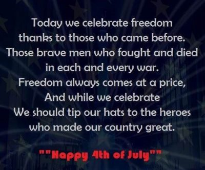 Deep Quotes On Fourth July