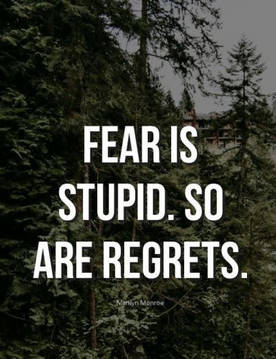 Fear and Regret Quote