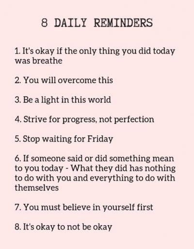 Daily Reminders Need To Read