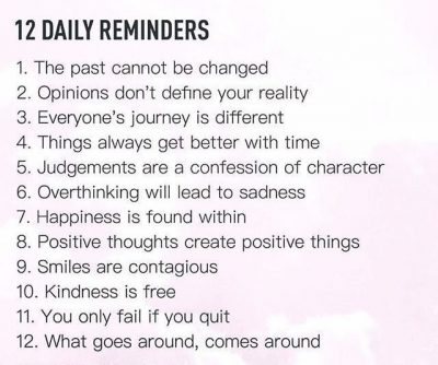 Inspirational Daily Reminders