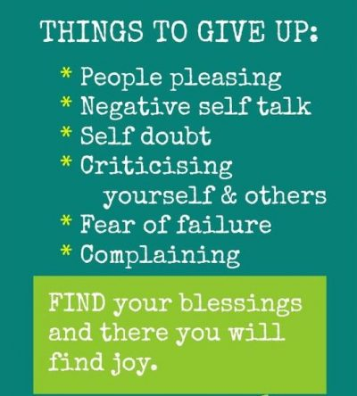 Negative Things To Give Up