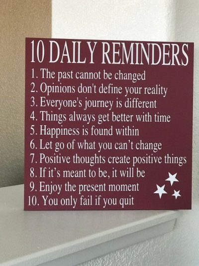 Stay Positive Daily Reminders