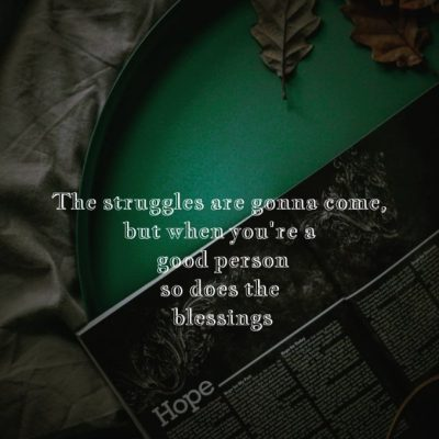 Deep Life Struggle Quote