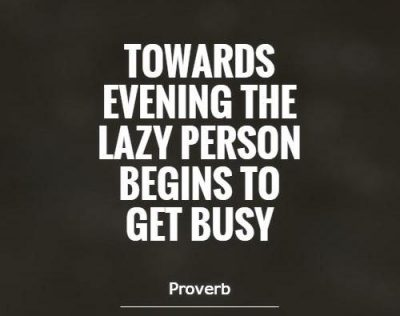 Proverbs Lazy Person