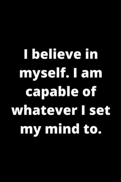 Affirmations For Believing In Yourself