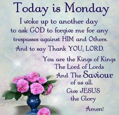 Good Morning Monday Blessings