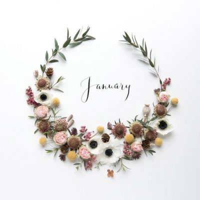 Hello January Wreath Images
