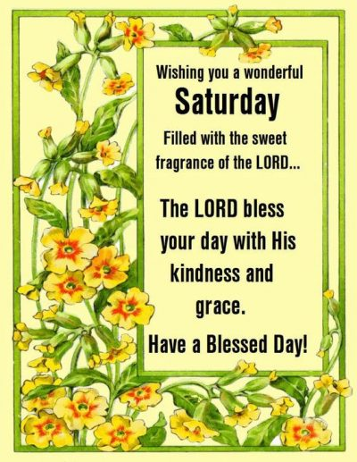 Religious Saturday Quotations