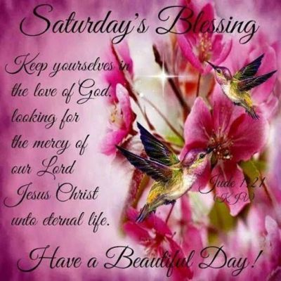 Saturday Blessing Prayer