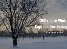 Winter Captions for Instagram