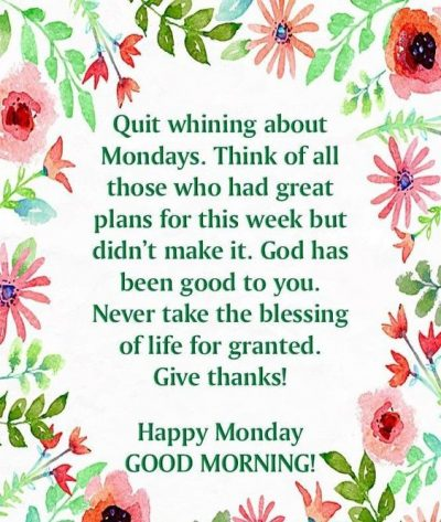 Wonderful Monday Blessing Pic
