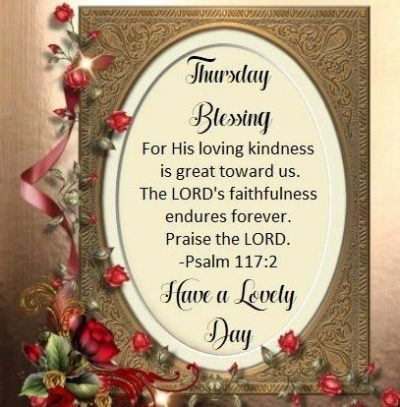 Wonderful Thursday Blessings