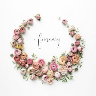Hello February Flower Wreath Pics