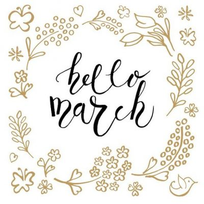 Hello March Handlettering Img