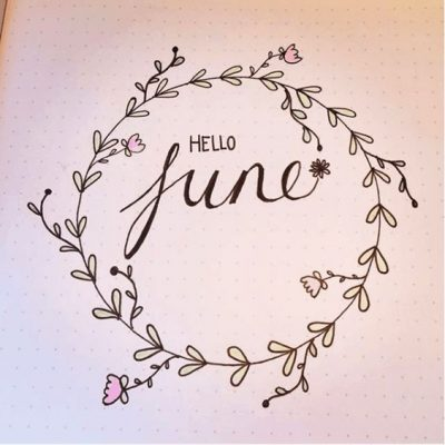 Hello June Bullet Journal