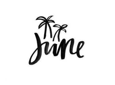 June Hand Lettering Picture