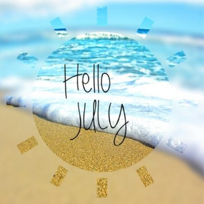 Welcome July Background Pic