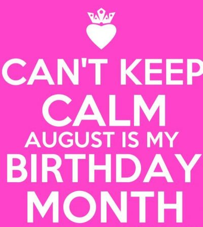 August Birthday Month Image