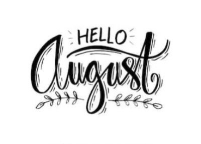 August Hand Lettering Picture