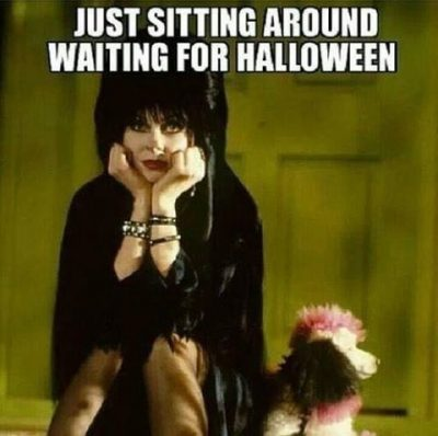 Funny Picture On Waiting For Halloween