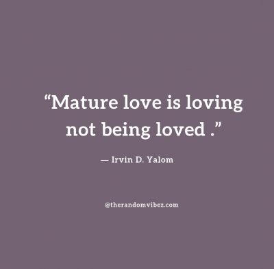 Quotes on Maturity in Relationship