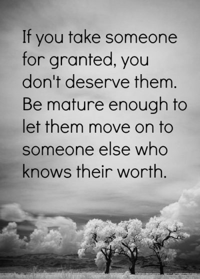 For granted others taking I Choose