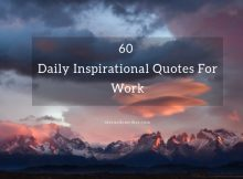 60 Daily Inspirational Quotes For Work